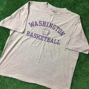 Vintage Washington BasketBall Arch Logo Tee